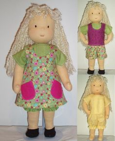 NEW Sneak Preview Offer -- PDF Pattern for 16-inch Waldorf Doll Plus FREE Clothing patterns. $6.50, via Etsy.