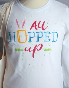 5d65f2cb9 Hand-painted Easter T-shirt with saying