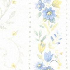 Blue Floral Stripe/3