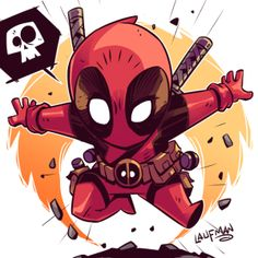 **Price is in US Dollars** Learn how I create my Chibi Art by purchasing the layered PSD file! You get a layered PSD of my Chibi Deadpool art at high res *Note This image is NOT to be reprinted in anyway. We ask that you respect the artist and their work. Chibi Marvel, Marvel Art, Marvel Dc Comics, Marvel Heroes, Deadpool Chibi, Chibi Superhero, Deadpool Kawaii, Marvel Xmen, Comic Books Art