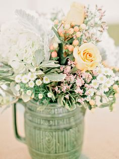 vintage floral decor, little rustic too #wedding #event
