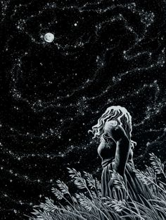 Hope is never lost in the stars. Even on the darkest nights when the moon has gone from sight, they sit patiently behind the clouds and await their mistress' return.