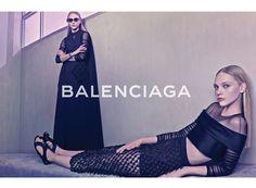 バレンシアガの2015年春夏広告キャンペーンに、サーシャ・ピヴォヴァロヴァが登場。