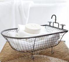 ~Kirklands Metal Bathtub Basket: $16.99 http://www.kirklands.com/product/Bed-Bath/Bathroom-Accessories/Metal-Bathtub-Basket/pc/2752/c/2729/1...