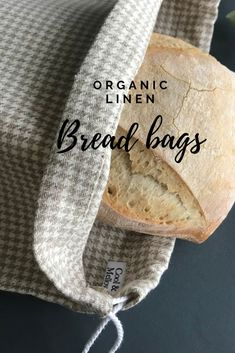 Zero waste bread bag with beige and cream checks. Diy Sac, Bread Bags, Friendly Plastic, No Waste, Produce Bags, Day Use, Go Shopping, Linen Fabric, Eco Friendly