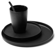 Modern Black Dinnerware Menu Black Contour Dishes Modern Dinnerware By Connox