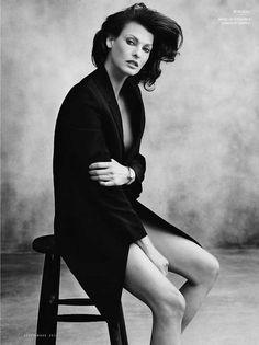 Linda Evangelista photographed by Norman Jean Roy for Vanity Fair Spain
