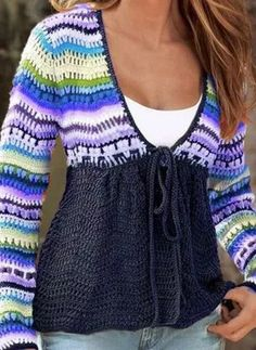Blue V-neck Short Date Night Colorful Knitted Sweater (Style Pullover Mode, Mode Chic, Blue V, Normal Wear And Tear, Sweater Fashion, Crochet Clothes, Casual Tops, Long Sleeve Sweater, Types Of Sleeves