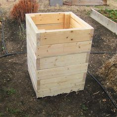 Potato Grow Box | Cool! Stackable as the tater plant grows... Grant could make this out of pallet wood too.