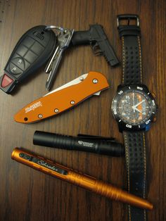 orange and black EDC