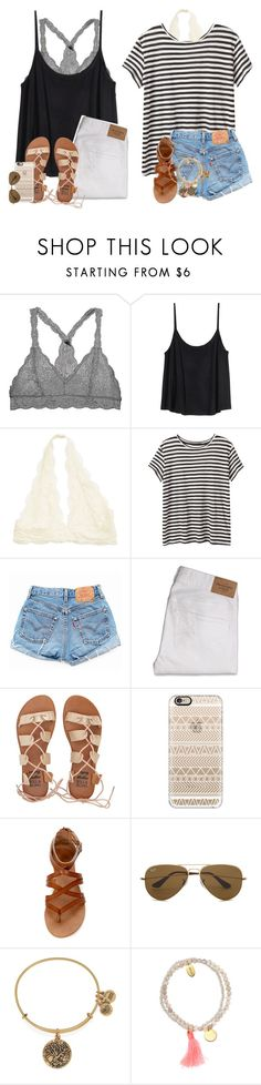 """""""How to wear: Bralettes"""" by daydreammmm ❤ liked on Polyvore featuring H&M, Proenza Schouler, Levi's, Abercrombie & Fitch, Billabong, Casetify, Ray-Ban, Alex and Ani and Jigsaw"""