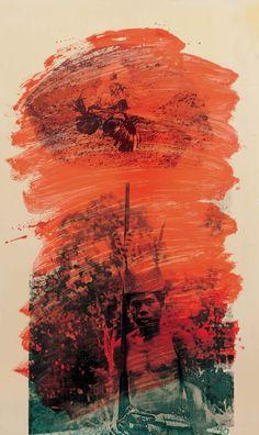 "paintedout: ""Robert Rauschenberg, Hutan Belantara (Virgin Forest) / ROCI MALAYSIA, Acrylic on tin-plated steel "" Collage Simple, Collage Art, Collages, Jasper Johns, Robert Rauschenberg, Franz Kline, Willem De Kooning, Cy Twombly, Joan Mitchell"
