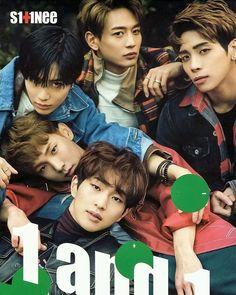 Shinee 1 and 1 Official Poster with hard tube kpop Onew Jonghyun, Minho, Lee Taemin, Shinee 1of1, Got7 Jackson, Jackson Wang, Super Junior T, Shinee Five, Shinee Debut