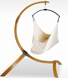 Beautiful baby hammock from Hushamok. Even the smallest movements from baby sets it rocking. #babygear