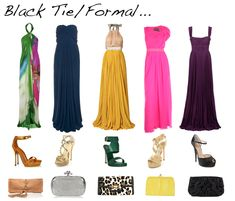 Semi formal wedding attire s t y l e pinterest semi formal dunno bout black tie formal but i really like the maxi dress to wear to a wedding junglespirit Image collections