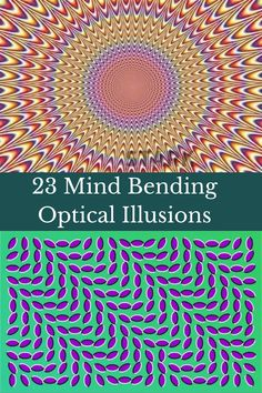 Whatever happened to optical illusions? For decades they were one of the things that brought people of all ages together to enjoy and discuss. But these days, you only see illusions involving timed photos. Let's get vintage and give these a try!