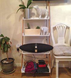4-tiers-Bookshelf-Bookcase-Ladder-Stand-free-Shelves-Storage-unit-BLACK-WHITE