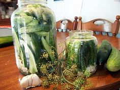 Old world homemade salt garlic brine pickles. Passed on from my Polish grandmother and mother to me.