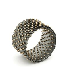 Ring | Ralph Bakker.  'Scales'.  Gold, silver