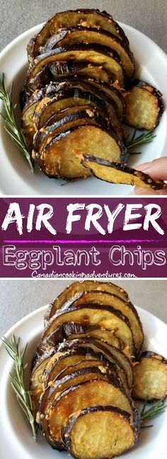 Fryer Eggplant Chips These Air Fryer Eggplant Chips are healthy and easy to make. Rethink your snack craving with this veggie alternative.These Air Fryer Eggplant Chips are healthy and easy to make. Rethink your snack craving with this veggie alternative. Air Fryer Recipes Potatoes, Air Fryer Dinner Recipes, Air Fryer Recipes Easy, Air Fryer Recipes Eggplant, Aubergine Recipe Healthy, Recipes Dinner, Healthy Eggplant Recipes, Air Fryer Recipes Vegetables, Veggies