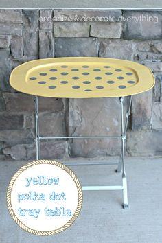 yellow polka dot tray table.1