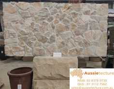 Natural stone walling - Wall cladding - Aussietecture - Choices made easy! Natural Stone Cladding, Natural Stone Wall, Natural Stones, Limestone Wall, Stone Supplier, Feature Walls, Wall Cladding, Fireplaces, Interior And Exterior