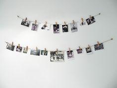 Hang polaroids