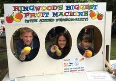 Human Fruit Machine At Ringwood Carnival