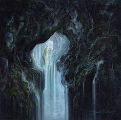 """""""L'Antre-Monde """" Huile sur toile 60 x 60cm.Pascal Ferry. """"The World's Lair """" Oil on canvas 60 x 60cm.Pascal Ferry."""
