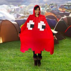 Buy Arcade Poncho - Red at Mighty Ape NZ. Rain doesn't have to mean game over! Stay dry in this Pac-Man Blinky style poncho – a must have accessory for retro & arcade gamers enjoying outdo. Air Force 1, Nike Air Force, Nike Air Max, Pac Man, Retro Arcade, Hip Hop Costumes, Halloween Costumes, Halloween 2019, Halloween Ideas