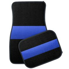 Beautiful Thin Blue Line Design Car Mats. Please show your support for LEO's. LIKE us and share our link with your friends. #LawEnforcement #ThinBlueLine #Police