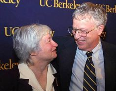 Janet Yellen and George Akerlof. He is a Nobel prize-winning economist and professor emeritus at UC Berkeley and she is the current Vice Chairman of the Board of Governors of the Federal Reserve System and a professor of economics at UC Berkeley. The couple has written a number of articles and books together. They keep the balance of love and business alive!