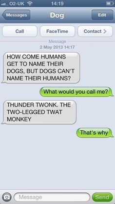 Dogs Can't Name Humans