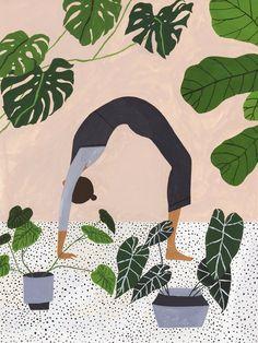art design Trend Alert: Feminine Art Prints f - art Art Inspo, Kunst Inspo, Art And Illustration, Botanical Illustration, Pattern Illustration, Mountain Illustration, Yoga Kunst, Yoga Art, Art Design
