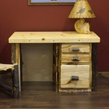 Professional but Fun and Rustic on Pinterest | Log furniture, Desk