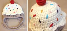 Crocheted Cupcake Hat With Earflaps [FREE Crochet Pattern]
