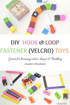 DIY toys using velcro, hook and loop fastener toys, toddler activities ideas diy at home
