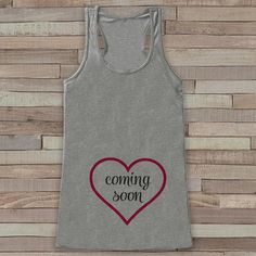 Pregnancy Announcement Tank - Pregnancy Shirt - Baby Girl Coming Soon Tank - Grey Tank Top - Pregnancy Announcement Shirt - New Mom - Get The Party Started