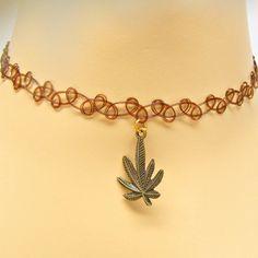 Pot Leaf Marijuana Bronze Finish Pewter by GrassShackTrading, $9.00