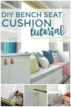 How to make a bench seat cushion with box corners