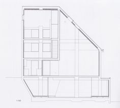 Kazuo Shinohara, House on a Curved Road, 1978 Architecture Plan, Textile Design, Floor Plans, Japan, How To Plan, Modern, Prints, House, Vermont