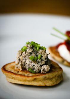 Vegetarian Canapés: Smoked Tofu & Mushroom Pate