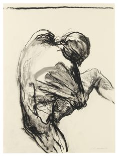 "thunderstruck9: ""Nancy Grossman (American, b. 1940), Bound Whirling Figure, 1975. Lithographic crayon on coated paper, 66 x 49.5 cm. """