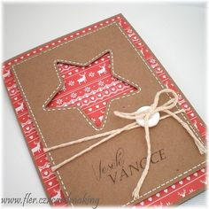 Simple Christmas Cards, Handmade Christmas, Christmas Time, Christmas Crafts, Christmas Decorations, Xmas, Star Cards, Card Maker, Stamping Up