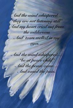 And the Wind Whispered...
