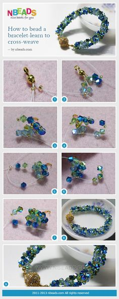 How to Bead A Bracelet - Learn to Cross Weave Nbeads by clairehobby