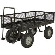 Strongway Heavy-Duty Jumbo Crate Wagon — x 31 Capacity Best Solar Lights, Best Led Grow Lights, Garden Wagon, Garden Cart, Pull Wagon, Wagons For Sale, Portable Greenhouse, Tent Sale, Wheelbarrow