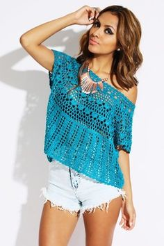 Blue Cool knit top