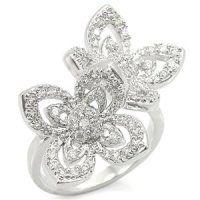 PR4163ZR - Kvietky - prsteň so zirkónmi kvetinkový, kvietkový prsteň so zirkónmi #supersperky #krasnesperky