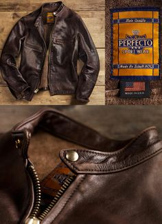 Perfecto NYC...rugged men's leather jacket